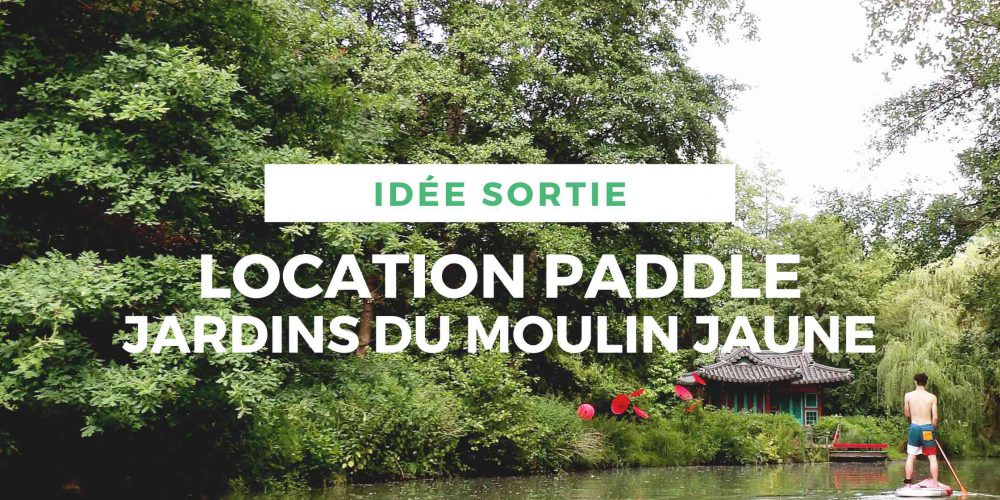 Location de Paddle le long des jardins du Moulin Jaune